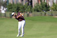 Alexander Levy (FRA) plays his 2nd shot on the 3rd hole during Saturday's Round 3 of the 2018 Turkish Airlines Open hosted by Regnum Carya Golf &amp; Spa Resort, Antalya, Turkey. 3rd November 2018.<br /> Picture: Eoin Clarke | Golffile<br /> <br /> <br /> All photos usage must carry mandatory copyright credit (&copy; Golffile | Eoin Clarke)