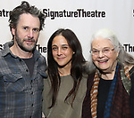 Josh Hamilton, Lily Thorne and Lois Smith attends the Off-Broadway Opening Night of the Signature Theatre's 'Thom Pain' at the Signature Theatre on November 11, 2018 in New York City.