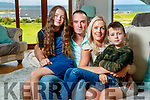 Toiréasa Ferris at home in Barrow with her children Liadain and Séadhna and her husband Pa Kelly.