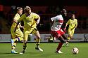 Patrick Agyemang of Stevenage attacks. Stevenage v Walsall - npower League 1 -  Lamex Stadium, Stevenage - 18th September, 2012. © Kevin Coleman 2012.