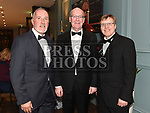 Gerry Rock, Kieran Logan and Peter Jolliffe at the Drogheda Business Excellence Awards in City North Hotel. Photo:Colin Bell/pressphotos.ie