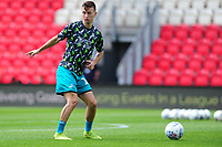 Bersant Celina of Swansea City during the pre-match warm-up for the pre season friendly match between Exeter City and Swansea City at St James Park in Exeter, England, UK. Saturday, 20 July 2019