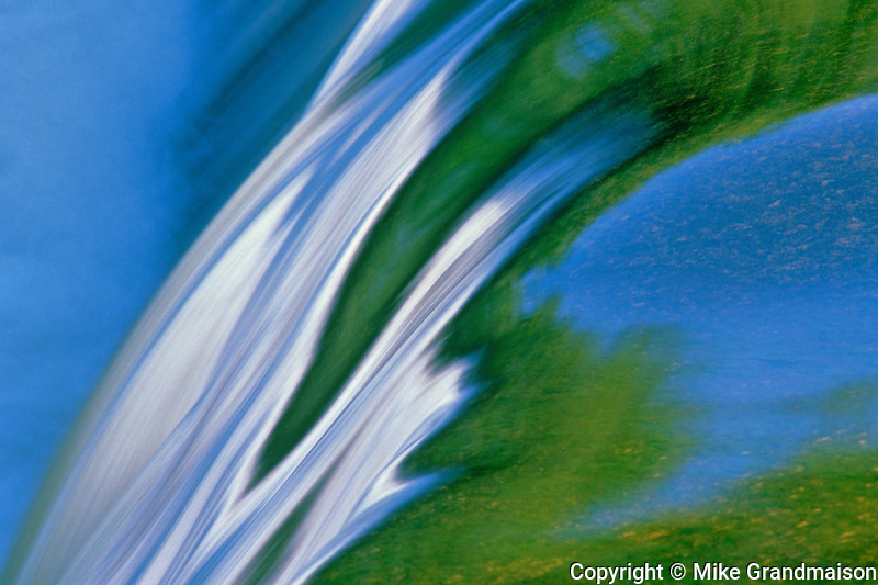 Rainbow Falls detail<br /> Whiteshell Provincial Park<br /> Manitoba<br /> Canada