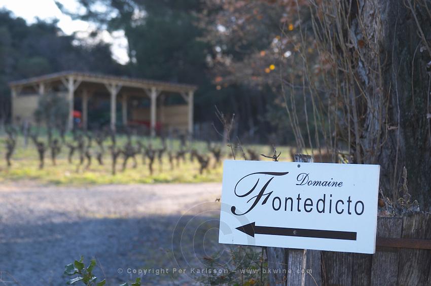 Domaine Fontedicto, Caux. Pezenas region. Languedoc. France. Europe.