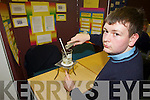 FUELING THE IMAGINATION: Eoin Moynihan from St Brendan's College, Killarney at the annual SciFest Science and Technology Fair held in the ITT on Tuesday presented his findings on the difference between energy and pollution produced by fossil fuels and bio fuels.