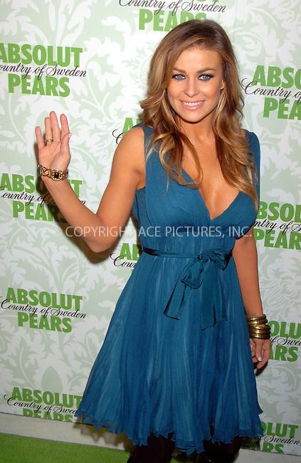 WWW.ACEPIXS.COM . . . . . ....January 24, 2007, New York City. ....Carmen Electra Hosts the Absolut Pears Launch Event. ....Please byline: KRISTIN CALLAHAN - ACEPIXS.COM.. . . . . . ..Ace Pictures, Inc:  ..(212) 243-8787 or (646) 769 0430..e-mail: info@acepixs.com..web: http://www.acepixs.com