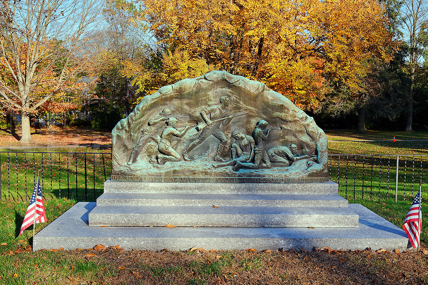 Minute Men memorial, Lexington, MA, Massachusetts, USA