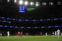 A general view with the score on the big screen<br /> <br /> Photographer Rob Newell/CameraSport<br /> <br /> UEFA Champions League Group B  - Tottenham Hotspur v Bayern Munich - Tuesday 1st October 2019 - White Hart Lane - London<br />  <br /> World Copyright © 2018 CameraSport. All rights reserved. 43 Linden Ave. Countesthorpe. Leicester. England. LE8 5PG - Tel: +44 (0) 116 277 4147 - admin@camerasport.com - www.camerasport.com