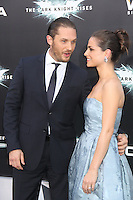 NEW YORK, NY - JULY 16:  Tom Hardy and Sarah Ward at 'The Dark Knight Rises' premiere at AMC Lincoln Square Theater on July 16, 2012 in New York City.  © RW/MediaPunch Inc.