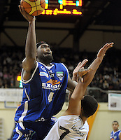 Saints import Kareem Johnson. NBL - Wellington Saints v Nelson Giants at TSB Bank Arena, Wellington, New Zealand on Thursday, 19 May 2011. Photo: Dave Lintott / lintottphoto.co.nz