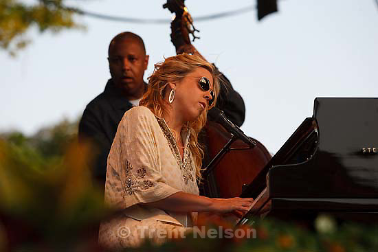 Grammy award-winner Diana Krall performs at Red Butte Garden..Friday July 31, 2009 in Salt Lake City.