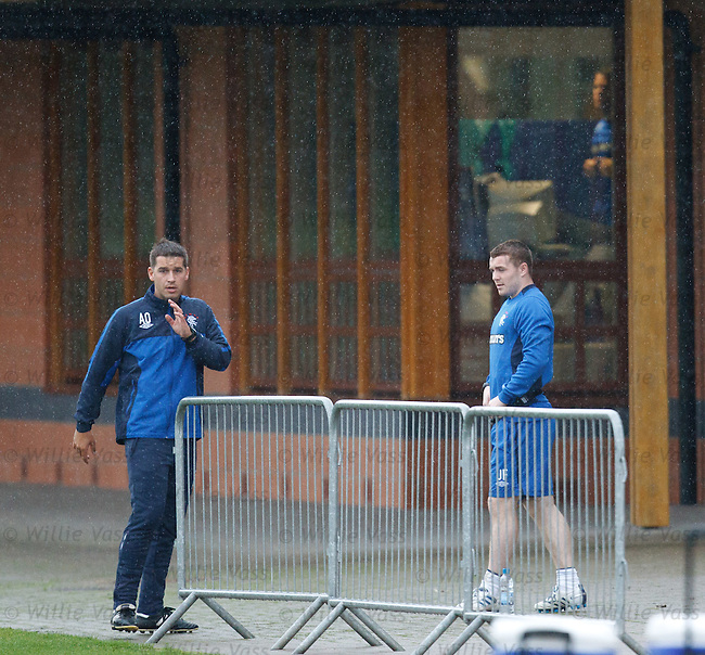 John Fleck comes out to be assessed by Adam Owen as James Beattie stays indoors on the bikes