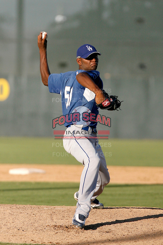 Bolivar Medina - Los Angeles Dodgers 2009 Instructional League. .Photo by:  Bill Mitchell/Four Seam Images..