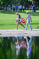 Gary Woodland  (USA) walks across the bridge on 6 with his caddie  during round 2 of the World Golf Championships, Mexico, Club De Golf Chapultepec, Mexico City, Mexico. 3/3/2017.<br /> Picture: Golffile | Ken Murray<br /> <br /> <br /> All photo usage must carry mandatory copyright credit (&copy; Golffile | Ken Murray)