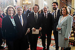 Julia Gutiérrez Caba, Jose Maria Anson, Raphael, Emilio Gutierrez Caba, Paco Leon and Natalia Figueroa attends to the closing of the commemoration of the IV centenary of the death of Miguel de Cervantes at Royal Palace in Madrid, Spain. January 30, 2017. (ALTERPHOTOS/BorjaB.Hojas)