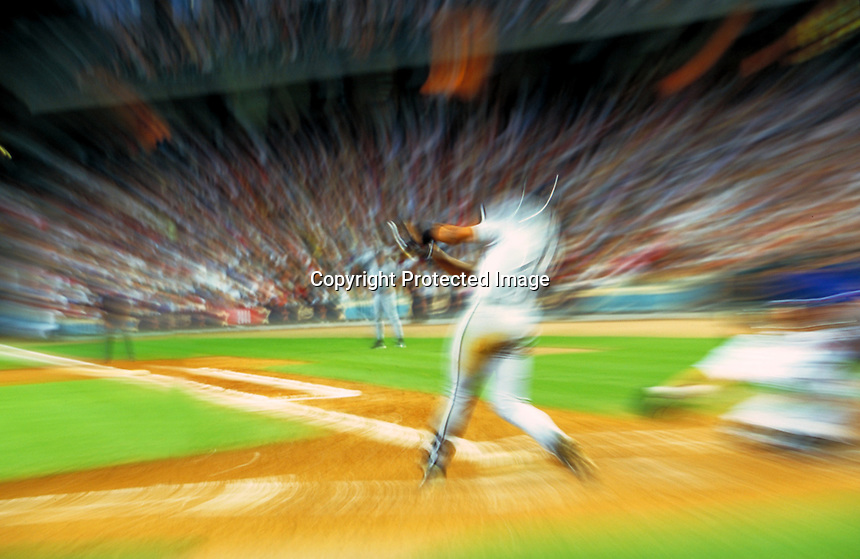 Frank Thomas, Chicago White Sox, Houston, TX.Photo by Chris Covatta