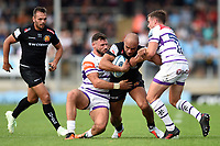 Olly Woodburn of Exeter Chiefs takes on the Leicester Tigers defence. Gallagher Premiership match, between Exeter Chiefs and Leicester Tigers on September 1, 2018 at Sandy Park in Exeter, England. Photo by: Patrick Khachfe / JMP