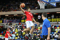 GB's Myles Hesson before the EuroBasket 2015 2nd Qualifying Round Great Britain v Bosnia & Herzegovina (Euro Basket 2nd Qualifying Round) at Copper Box Arena in London. - 13/08/2014