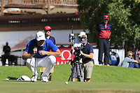 Lucas Bjerregaard (DEN) on the 16th green during Sunday's Final Round 4 of the 2018 Omega European Masters, held at the Golf Club Crans-Sur-Sierre, Crans Montana, Switzerland. 9th September 2018.<br /> Picture: Eoin Clarke | Golffile<br /> <br /> <br /> All photos usage must carry mandatory copyright credit (© Golffile | Eoin Clarke)