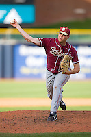 Geoff Parker #21 of the Florida State Seminoles in action versus the Miami Hurricanes at Durham Bulls Athletic Park May 21, 2009 in Durham, North Carolina.  (Photo by Brian Westerholt / Four Seam Images)