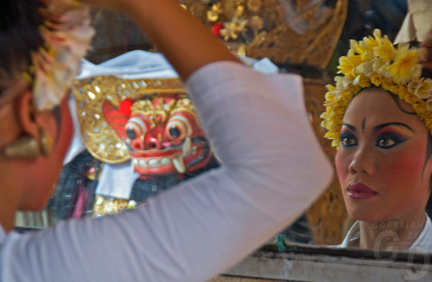 Barong Dance preparation Batubulan,Bali