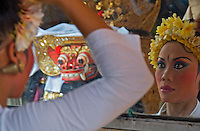 Barong Dance preparation Batubulan,Bali
