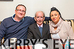 Bernard Downey, Eddie Fitzgerald from Kevin Barrys Villas celebrating his 80th birthday, Michelle Downey at the Brogue on Saturday night