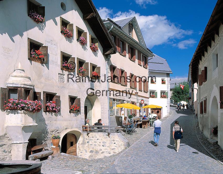 CHE, Schweiz, Graubuenden, Unterengadin, Guarda: Ortskern | CHE, Switzerland, Graubuenden, Lower Engadin, Guarda: village centre