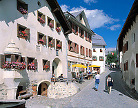 CHE, Schweiz, Graubuenden, Unterengadin, Guarda: Ortskern | CHE, Switzerland, Graubuenden, Lower Engadin, Guarda: village centre