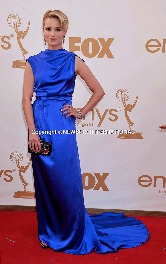 """DIANNA AGRON.attends the Academy of Television Arts & Sciences 63rd Primetime Emmy Awards at Nokia Theatre L.A. Live, Los Angeles_18/09/2011.Mandatory Photo Credit: ©Crosby/Newspix International. .**ALL FEES PAYABLE TO: """"NEWSPIX INTERNATIONAL""""**..PHOTO CREDIT MANDATORY!!: NEWSPIX INTERNATIONAL(Failure to credit will incur a surcharge of 100% of reproduction fees).IMMEDIATE CONFIRMATION OF USAGE REQUIRED:.Newspix International, 31 Chinnery Hill, Bishop's Stortford, ENGLAND CM23 3PS.Tel:+441279 324672  ; Fax: +441279656877.Mobile:  0777568 1153.e-mail: info@newspixinternational.co.uk"""