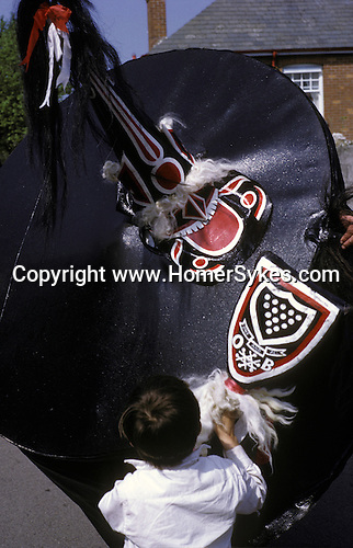 Padstow Hobby Horse, Padstow Cornwall. 1970s. UK<br />