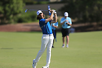 Tommy Fleetwood (ENG) on the 1st fairway during the 3rd round of the DP World Tour Championship, Jumeirah Golf Estates, Dubai, United Arab Emirates. 23/11/2019<br /> Picture: Golffile | Fran Caffrey<br /> <br /> <br /> All photo usage must carry mandatory copyright credit (© Golffile | Fran Caffrey)