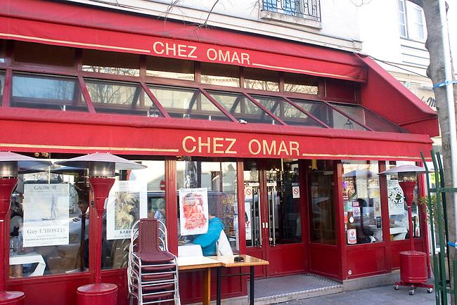 Exterior, Chez Omar Restaurant, Paris, France, Europe