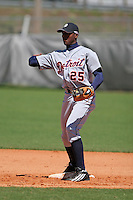 Detroit Tigers minor leaguer Audy Ciriaco during Spring Training at the Chain of Lakes Complex on March 17, 2007 in Winter Haven, Florida.  (Mike Janes/Four Seam Images)