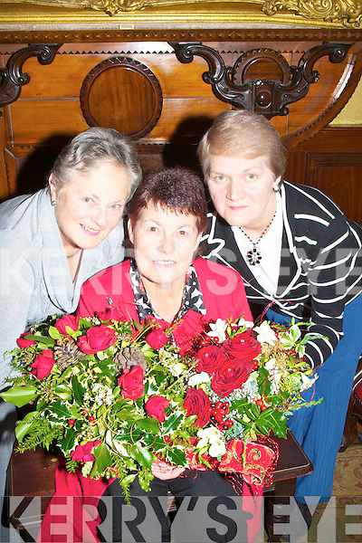 DEMONSTRATION: Vera O'Connor (Compt Setretary),Margaret Groves (Chairperson) and Kathleen Reidy (Secretary) who demonstrate some of the flowers from the Tralee Flower & Garden Club in support of All Ireland Air Ambulance of the ladies of the Tralee Flower & Garden Club Gala Christmas demonstration. in The Grand Hotel, Tralee on Monday night...