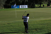 Joel Sjoholm (SWE) on the 18th during Round 3 of the Challenge Tour Grand Final 2019 at Club de Golf Alcanada, Port d'Alcúdia, Mallorca, Spain on Saturday 9th November 2019.<br /> Picture:  Thos Caffrey / Golffile<br /> <br /> All photo usage must carry mandatory copyright credit (© Golffile | Thos Caffrey)