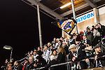 Stockholm 2015-11-18 Bandy Elitserien Hammarby IF - Sandvikens AIK :  <br /> Sandvikens supportrar under matchen mellan Hammarby IF och Sandvikens AIK <br /> (Foto: Kenta J&ouml;nsson) Nyckelord:  Elitserien Bandy Zinkensdamms IP Zinkensdamm Zinken Hammarby Bajen HIF Sandviken SAIK supporter fans publik supporters