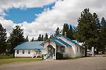 White little country church, Presbyterian, Lostine, Ore.