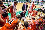 S&ouml;dert&auml;lje 2015-10-20 Basket Basketligan S&ouml;dert&auml;lje Kings - Bor&aring;s Basket :  <br /> Bor&aring;s head coach Patrick Pat Ryan i aktion under en timeout under matchen mellan S&ouml;dert&auml;lje Kings och Bor&aring;s Basket <br /> (Foto: Kenta J&ouml;nsson) Nyckelord:  S&ouml;dert&auml;lje Kings SBBK T&auml;ljehallen Bor&aring;s Basket tr&auml;nare manager coach