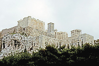 Athens: Acropolis from below. Photo '82.