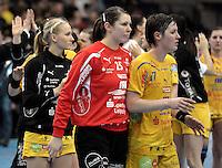 EHF Champions League - HC Leipzig (Germany) : Larvik HK (Norway) - Arena Leipzig - im Bild:  XXX wer was mit wem xxx. Foto: Norman Rembarz...