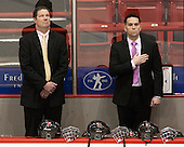Dave Flint (NU - Head Coach), Jeff Pellegrini (NU - Assistant Coach) - The Northeastern University Huskies defeated the visiting Providence College Friars 8-7 on Sunday, January 20, 2013, at Matthews Arena in Boston, Massachusetts.