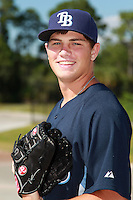 Tampa Bay Rays minor league pitcher Ian Kendall during an Instructional League game vs. the Minnesota Twins at Charlotte Sports Park in Port Charlotte, Florida;  October 5, 2010.  Photo By Mike Janes/Four Seam Images