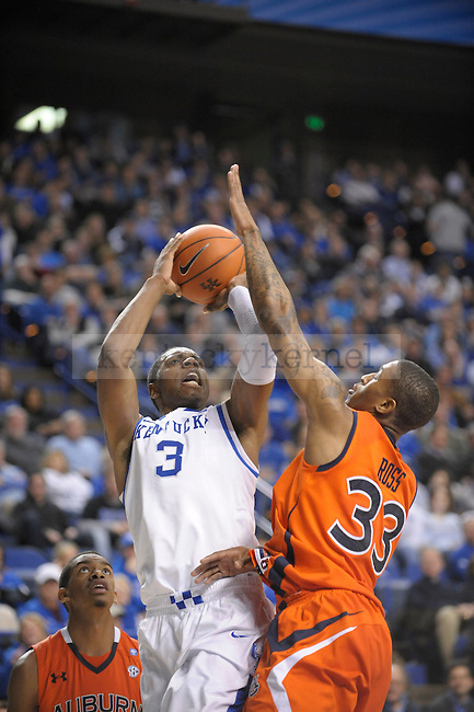 UK's Terrence Jones taking a shot during the University of Kentucky Men's basketball game against Auburn at Rupp Arena in Lexington, Ky., on 1/11/11. Uk won the game 78-54. Photo by Mike Weaver | Staff