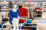 Mannequin at Lacoste fashion clothing store in Ontario, Canada.