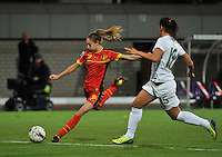 20131031 - ANTWERPEN , BELGIUM : Belgian Tessa Wullaert (9)  pictured during the female soccer match between Belgium and Portugal , on the fourth matchday in group 5 of the UEFA qualifying round to the FIFA Women World Cup in Canada 2015 at Het Kiel stadium , Antwerp . Thursday 31st October 2013. PHOTO DAVID CATRY