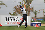Abu Dhabi HSBC Golf Championship 2011, at the Abu Dhabi golf club 19/1/11. Padraig Harrington teeing off on the second tee during the Pro-AM.Picture Fran Caffrey/www.golffile.ie.