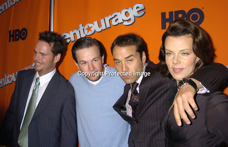 "Kevin Dillon. Mark Wahlberg, Jeremy Piven and Debi Mazar ..at The New York Season 2 Premier of HBO Television show ""Entourage"" on June 2, 2005  at Lincoln Center. ..Photo by Robin Platzer, Twin Images"