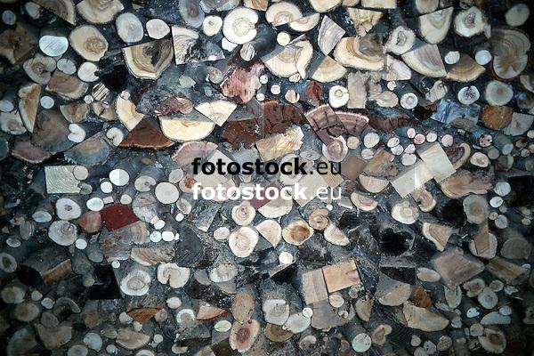 Pile of wood<br /> <br /> Holzstapel<br /> <br /> Original: 35 mm slide transparency