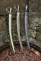 Swords for sale, Khan el Khalili Bazaar, Cairo, Egypt